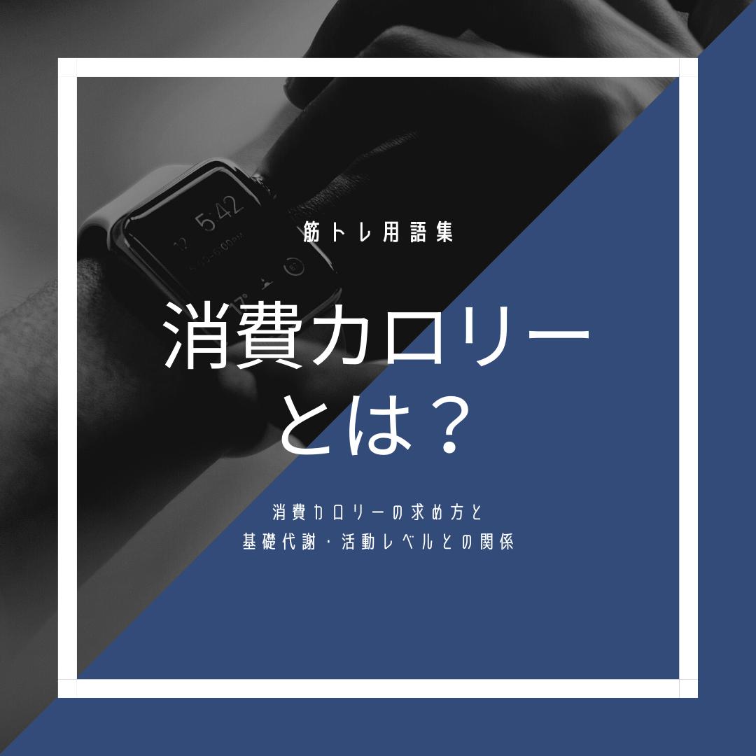 【筋トレ用語】消費カロリーとは?